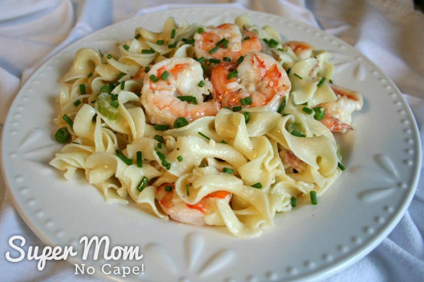 Plate of Creamy Shrimp Pasta