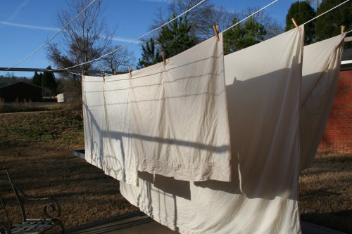 sheets on the line