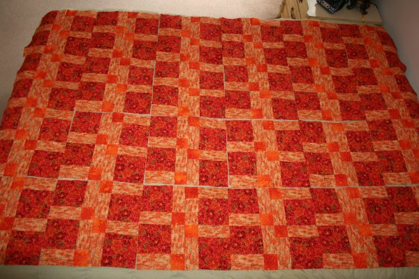 Disappearing Nine Patch Blocks Laid Out