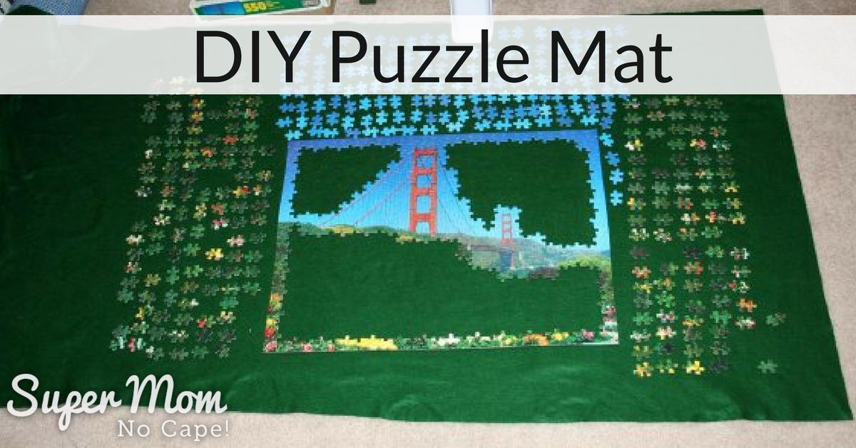 Diy Puzzle Mat Super Mom No Cape