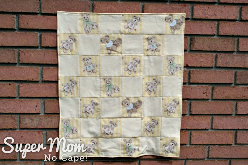 How to Make Bedding for a Doll Cradle - finished doll quilt