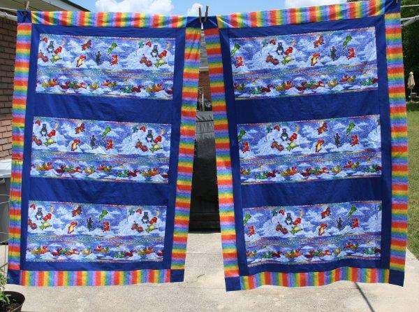 Flying Zebra Child Sized Quilt Tops