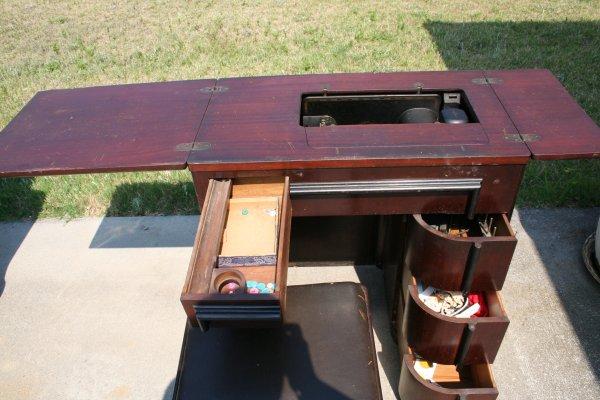 Art Deco Sewing Machine Cabinet   3