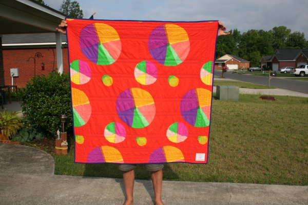 Back of Flying Zebra Baby Quilt