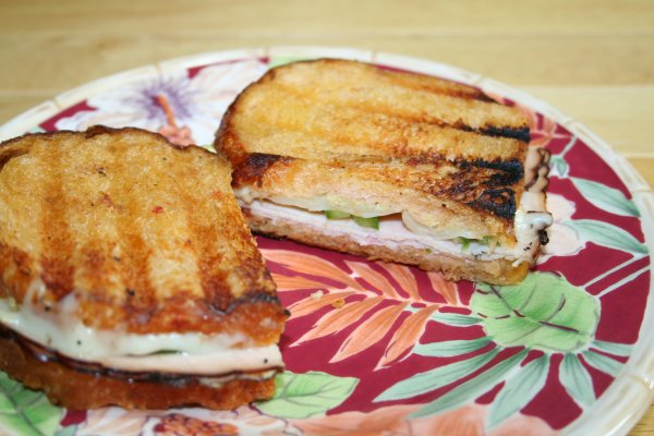 Enjoy a perfectly grilled panini