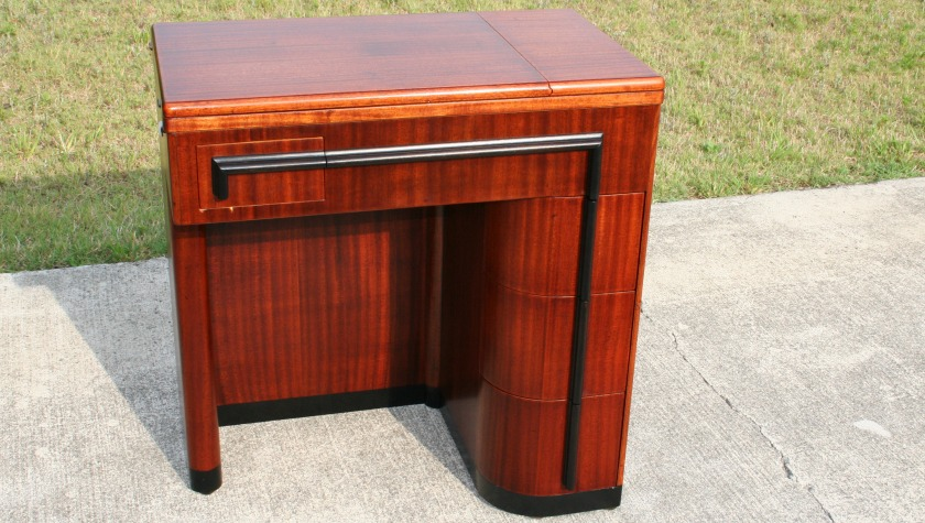 Singer Art Deco Sewing Machine Cabinet Completely Refinished