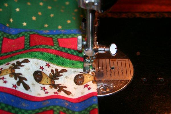 Top stitch close to edge