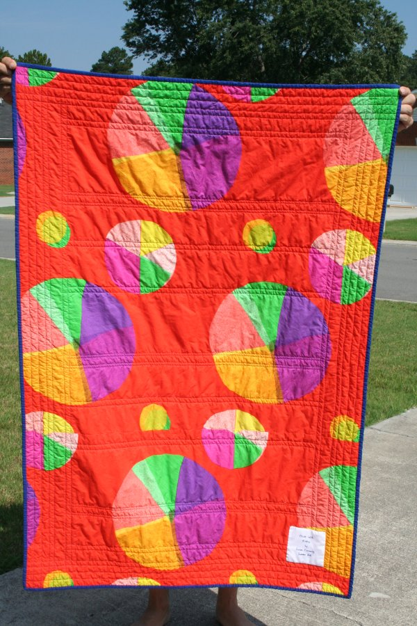 Back of Child-Sized flying zebra quilt