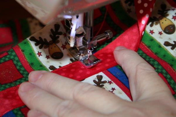 Pivot and sew across width