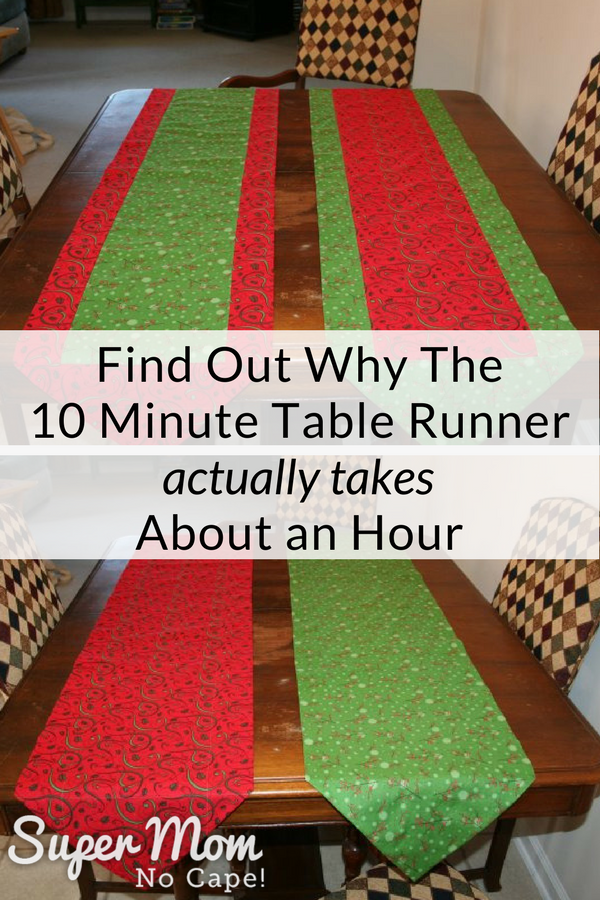 Find Out Why The 10 Minute Table Runner Actually Takes About an Hour - photo of two table runners