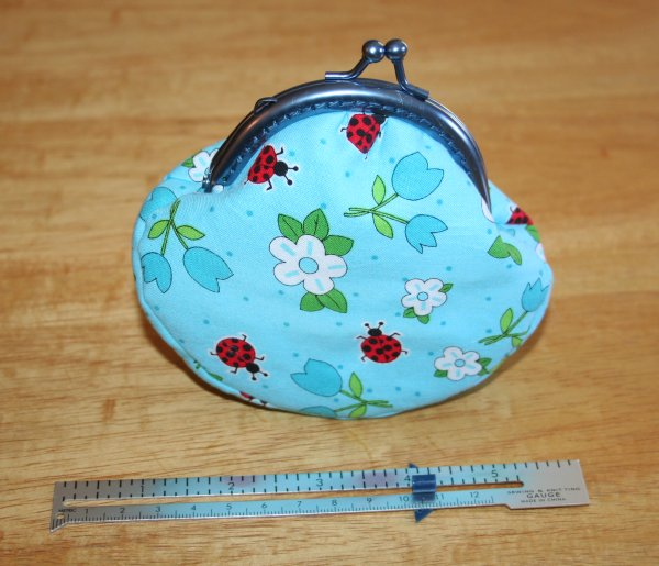 Finished clutch frame purse - 1