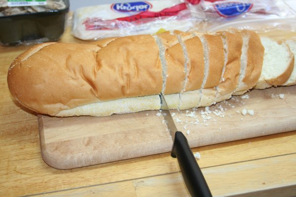 Slice bread one inch thick