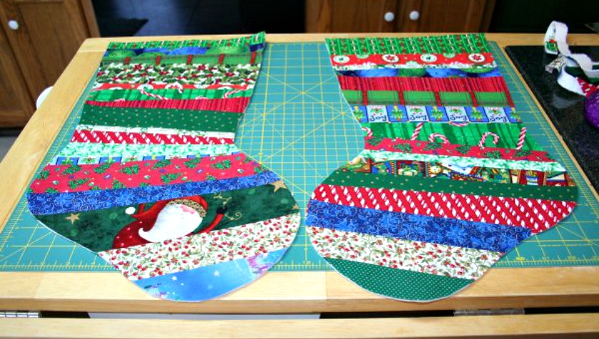 QuiltAsYouGo Christmas Stocking Tutorial Part One Super Mom Best Quilted Christmas Stocking Pattern
