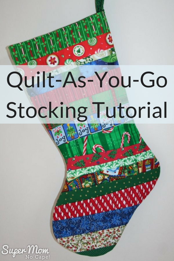 quilt as you go stocking tutorial - Quilted Christmas Stockings