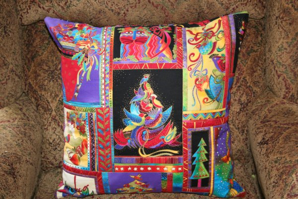 Laurel Burch Pillow Front completed