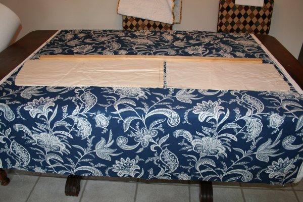 Line the folded pattern piece up along the stick