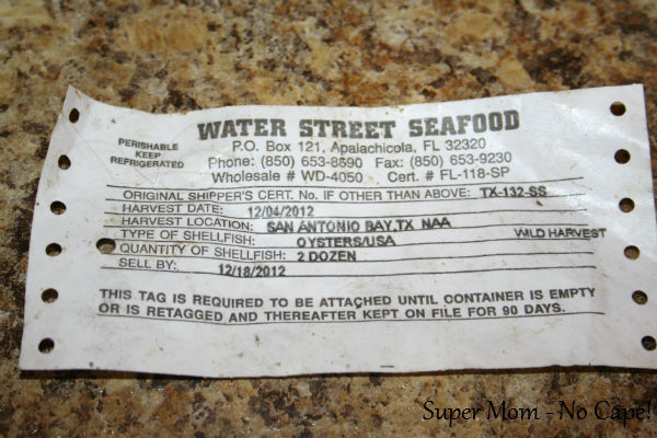 Oyster label