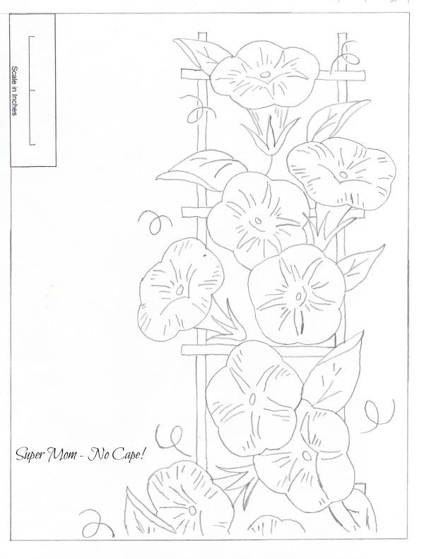 JPEG 82 Morning Glory Border Sheet 1