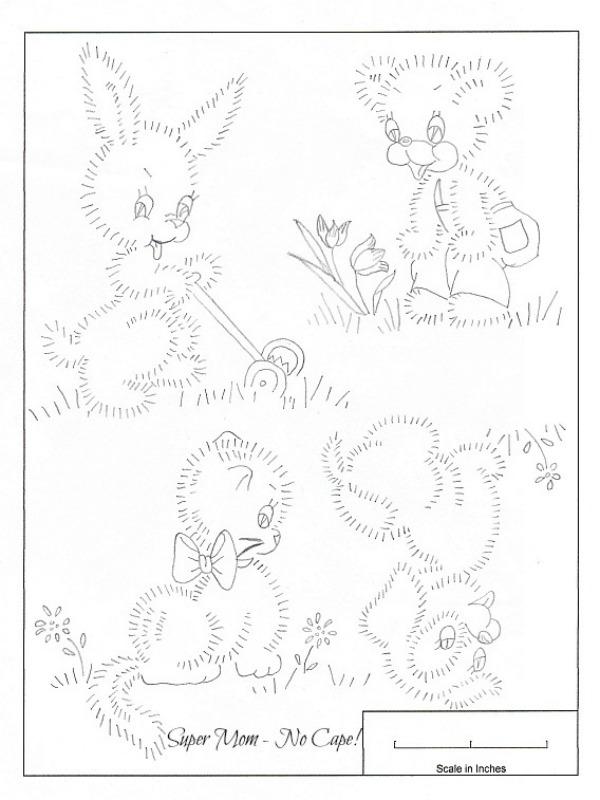 Vintage Bunny, Bear, Kitten, Puppy