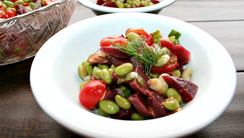 Cooking for Two – Beet and Edamame Salad