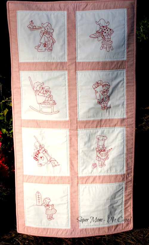 Vintage Chore Girl Wallhanging