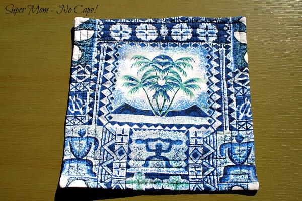 Back of the Hawaiian Aloha fabric mouse pad