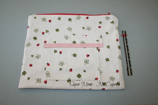 Laptop Zip Bag with Outside Pocket