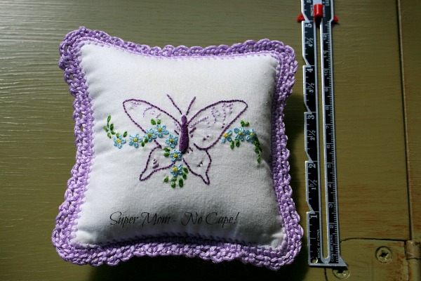 Purple Butterfly Embroidered Sachet