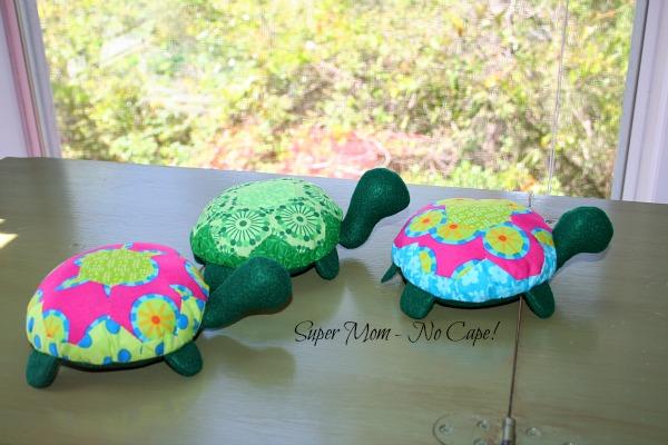 Photo of three hexie turtles