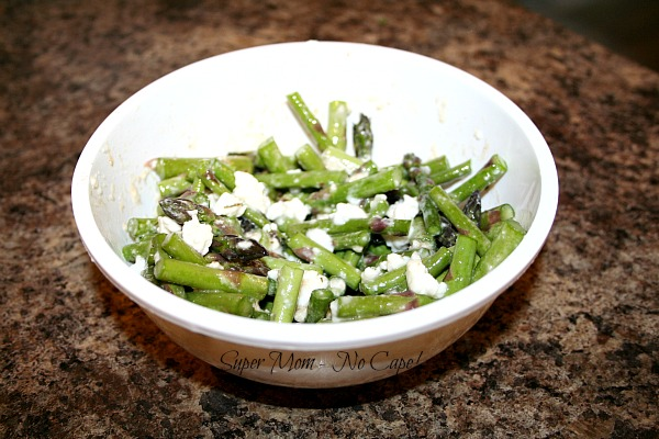Asparagus Salad - toss with feta cheese and balsamic dressing