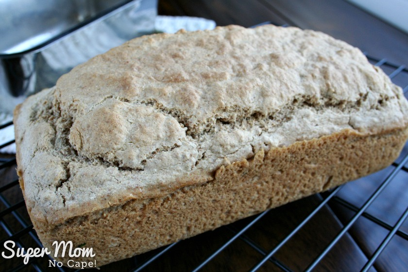 Herbed Beer Bread - Removed from the loaf pan and allow to cool completely