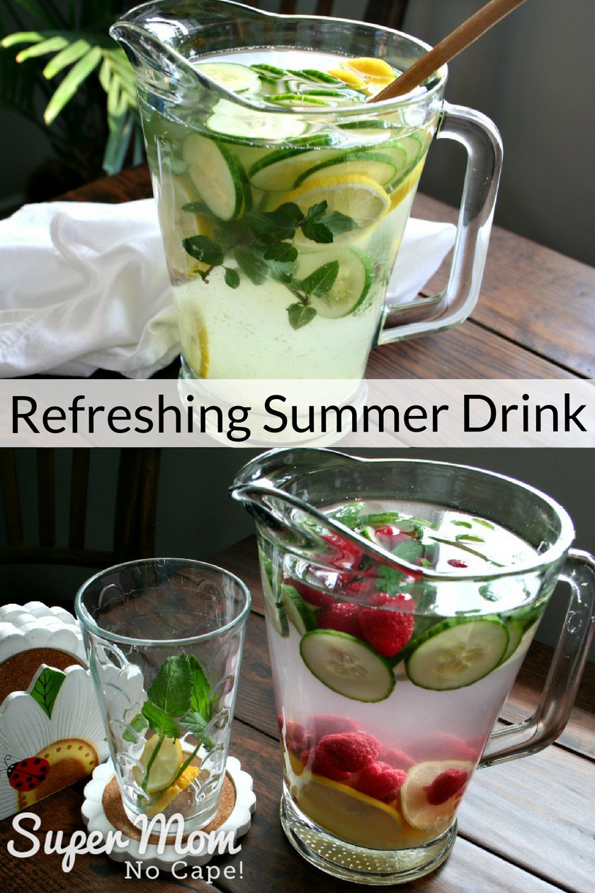Collage photo of 2 different Refreshing Summer Drinks