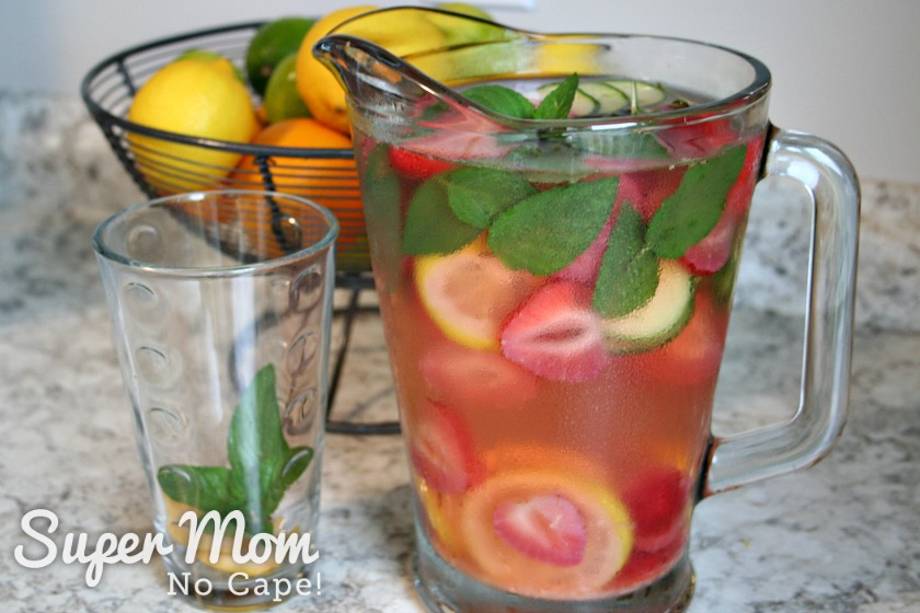 Refreshing Summer Drink with Strawberries added to basic recipe