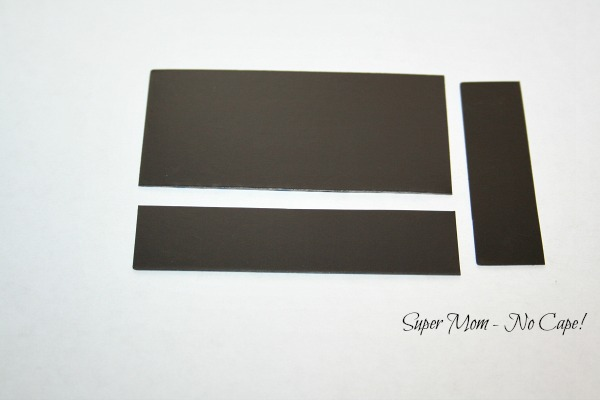 Photo of magnet cut into strips