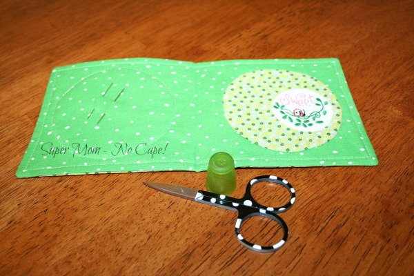 Completed inside of the Sweet and Spotty Needle Wallet