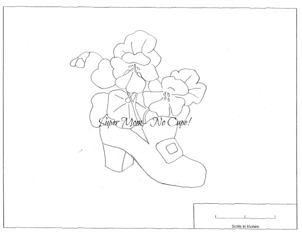 Vintage Embroidery Workbasket Pattern Page 78 - Nasturtiums in a Slipper