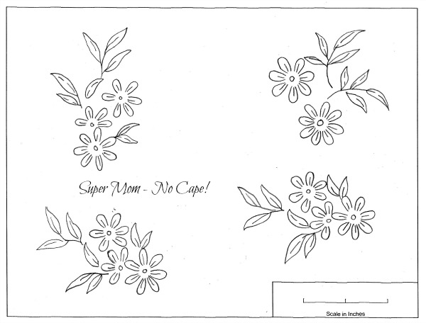 Vintage Workbasket Embroidery pattern for daisies from page 78