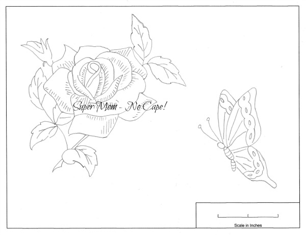 Vintage Workbasket Embroidery Patterns for Large Rose and Butterfly from Page 79