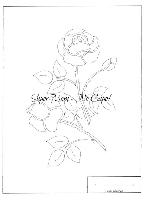 Vintage Workbasket Pattern for Appliqued Rose