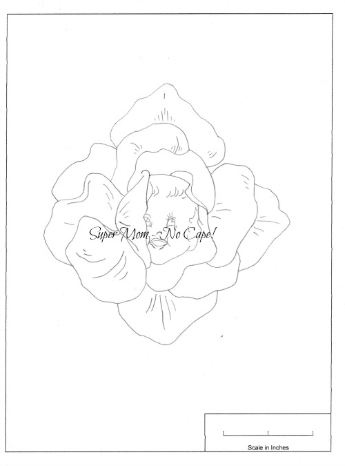 Vintage Workbasket embroidery pattern for a Baby Face Rose