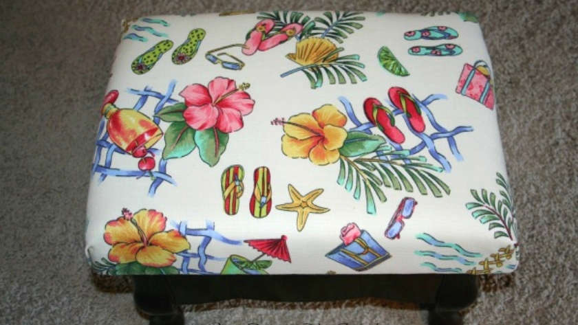 How to Recover a Small Footstool
