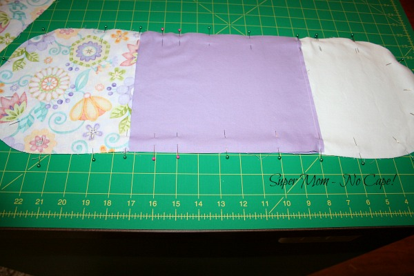 Pieces pinned and ready to sew