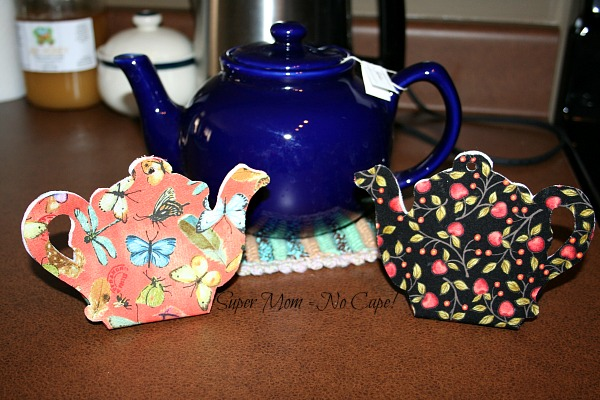 Teapot Gift Box made from fabric