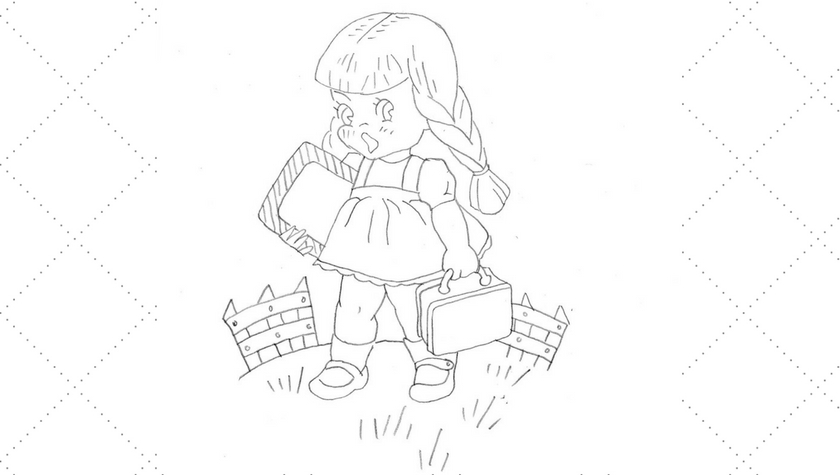 Vintage School Girl Embroidery Pattern