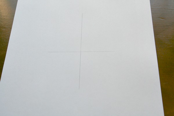 draw two perpendicular lines