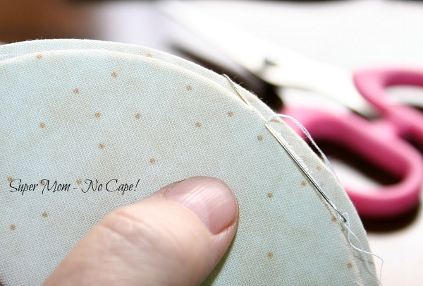 Sew smaller form to larger form using blind stitch