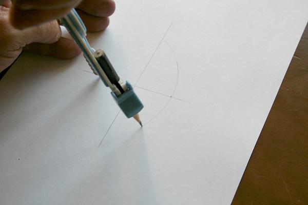 Draw first arc