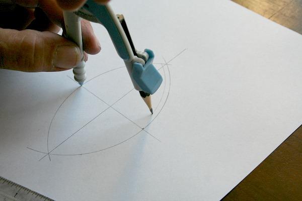 Draw first inside arc