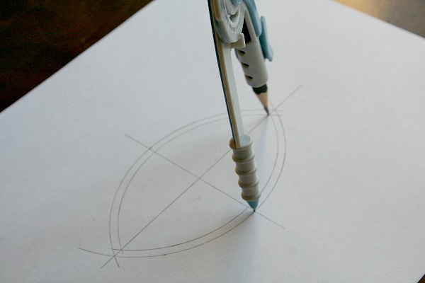 Draw second inside arc