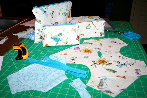 Set of Travel Bags in Progress